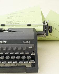 type writer guest book martha