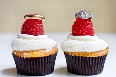 Rings on Raspberry Cupcakes