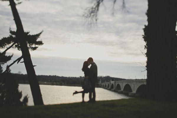 Washington DC engagement at sunset