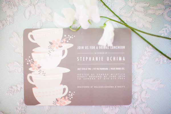 Pink Vintage Tea Party Bridal Shower by Chris Kristen – Tea Party Bridal Shower Invites
