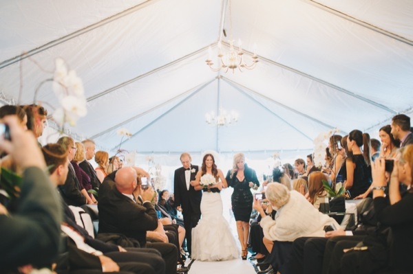 Inspired by This Black and White Modern Loft Wedding by Mango Studios - ceremony