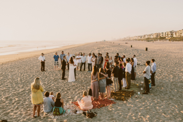 Intimate Beach Wedding By Gina + Ryan Photography