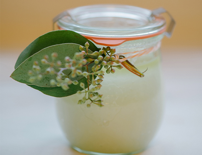 DIY Wedding Favor: Herb Infused Salt Scrub