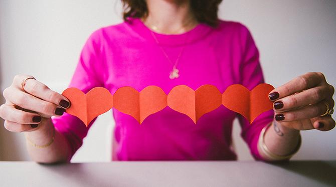 DIY Heart Banner