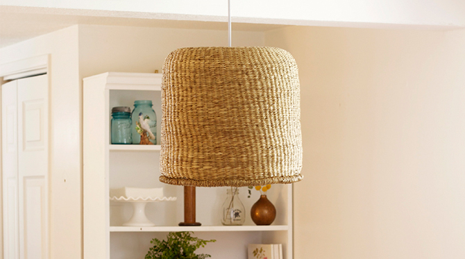 DIY Basket Pendant Lamp