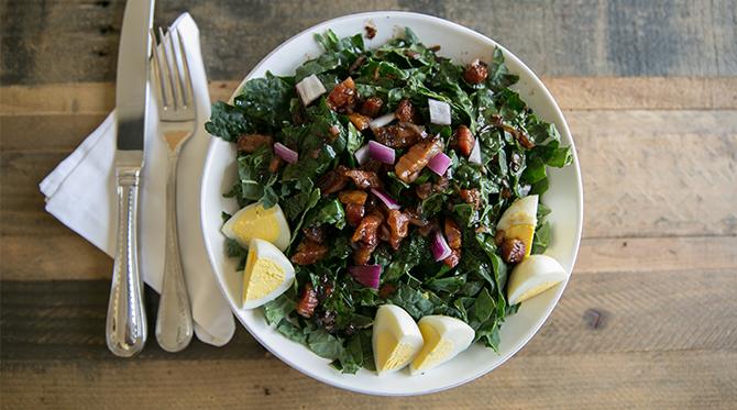 Warm Pancetta Kale Salad