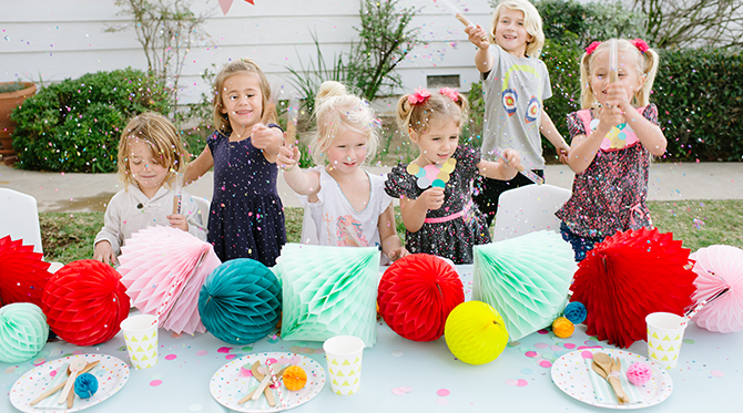 Kids Confetti Birthday Party