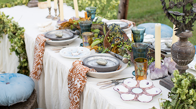 Vineyard Summer Dinner Party