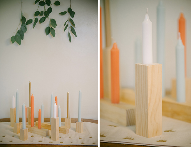 DIY Candle Stick Holders