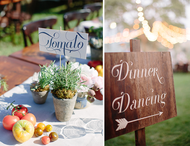 Farmer's Market Vineyard Wedding
