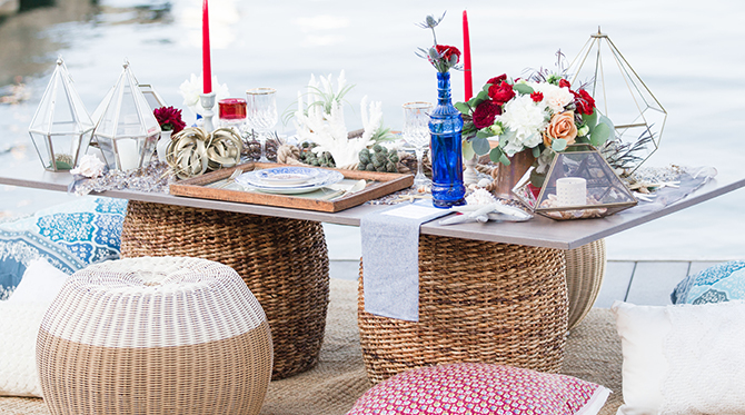 Nautical Wedding on the Dock