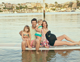 Paddleboarding Maternity Shoot