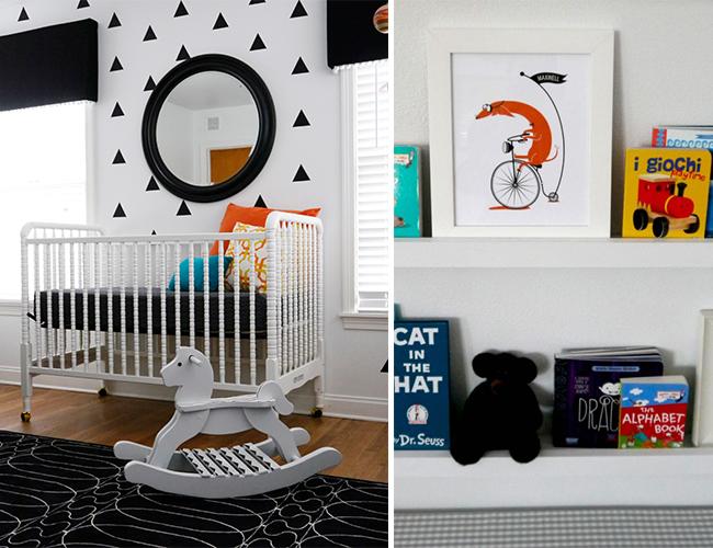 Black and White Geometric Nursery