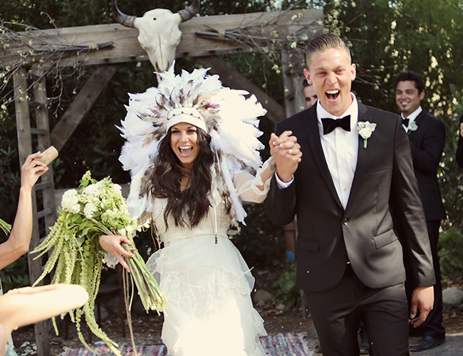 Outdoor bohemian wedding inspired by this outdoor bohemian wedding by mary rosenbaum junglespirit Image collections