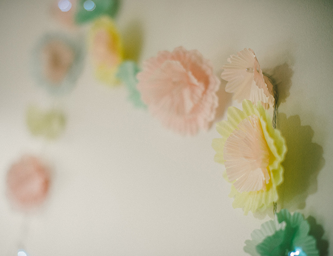 DIY Flower Garland Lights