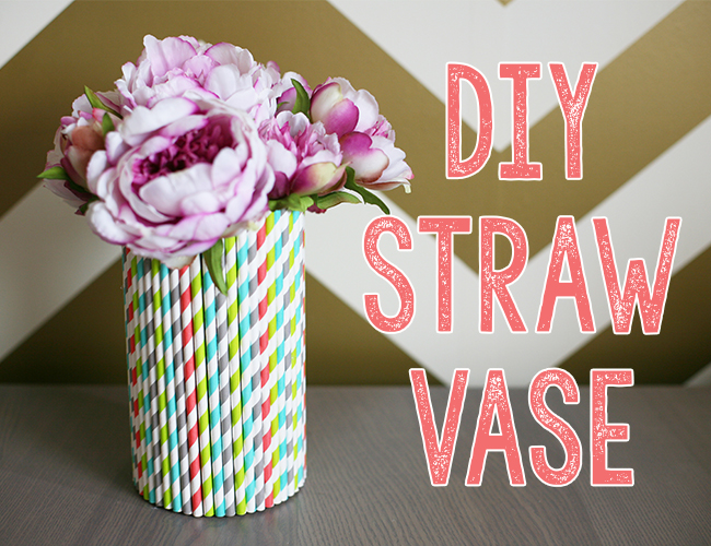 Diy Straw Vase Inspired By This