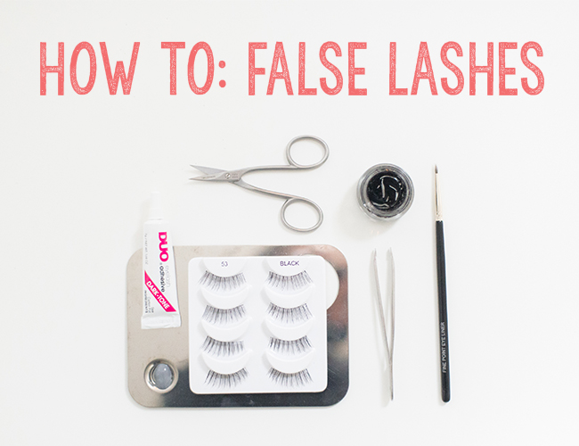 How to Apply False Lashes