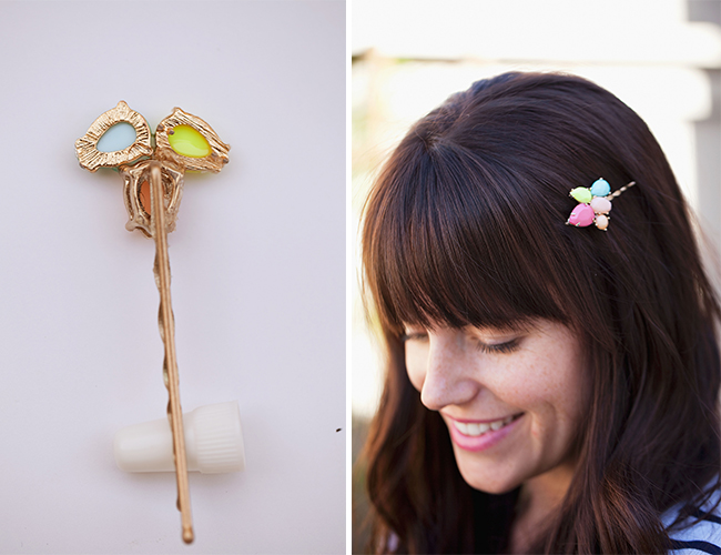 DIY: Gem Stone Bobby Pins