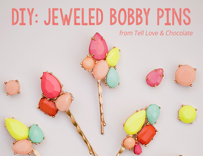 DIY Jeweled Bobby Pins