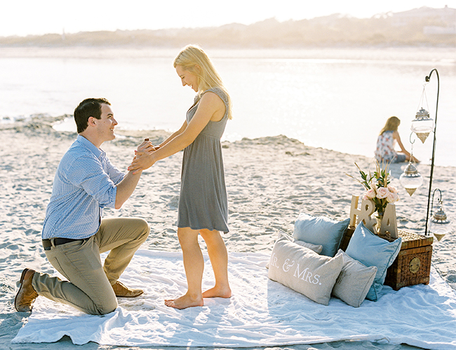 romantic beach proposal inspired by this