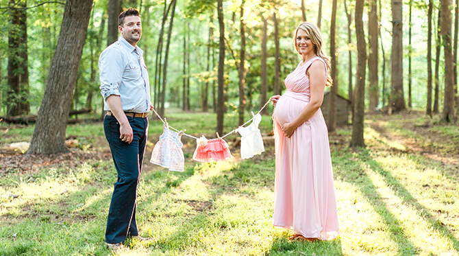 Pretty in Pink Maternity Photos