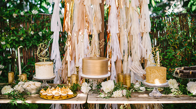 Gold and Ivory Baby Shower