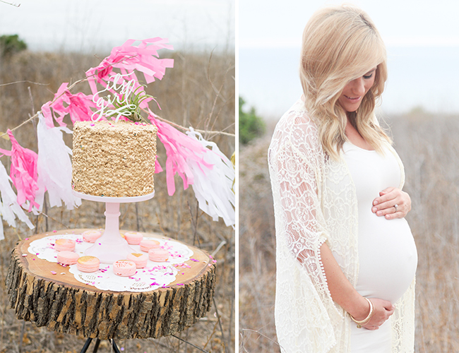 Girly Pink Maternity Session