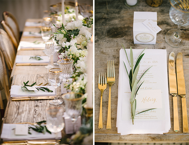 Chic Ivory and Gold Baby Shower