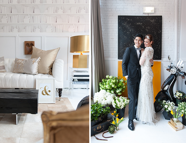 Black, White, and Gold Inspiration Shoot