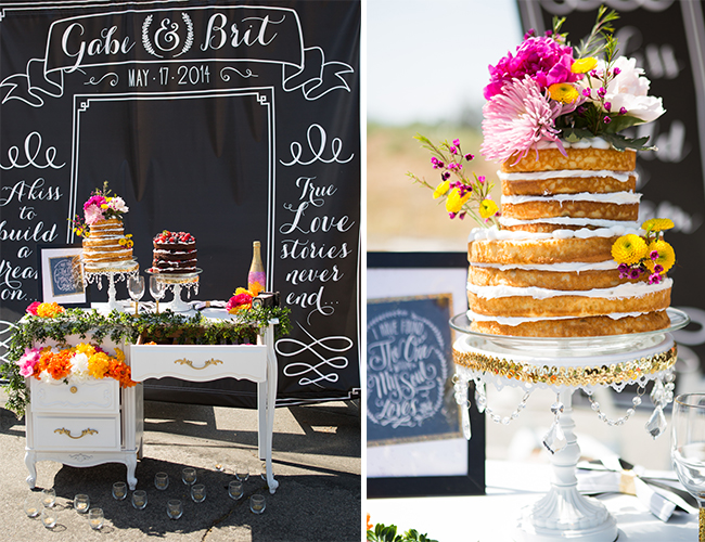 Black and White Backyard Wedding with Pops of Color