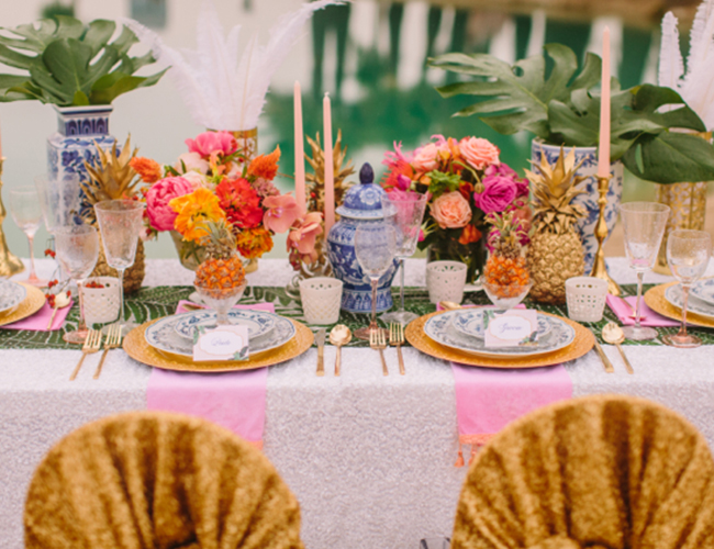Caribbean Party Tips Theme Parties N More: Caribbean Boho Wedding Inspiration