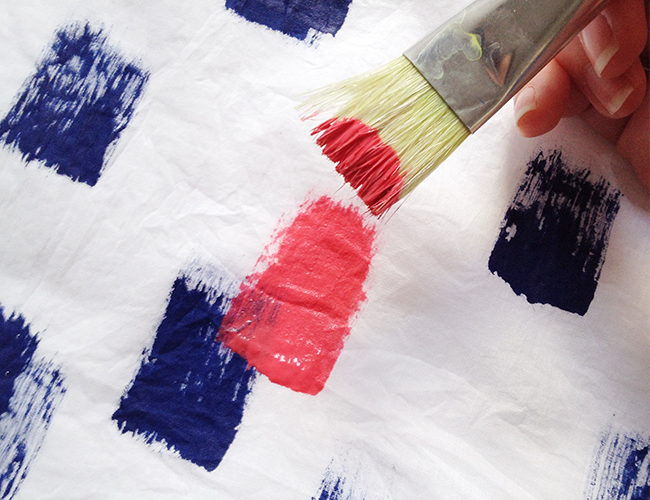 DIY Brush Stroke Scarf - Style Blog