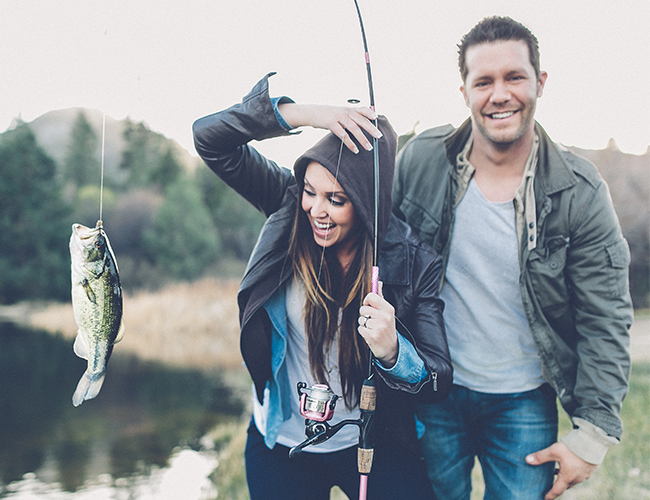 Gone Fishing Engagement - Wedding Blog