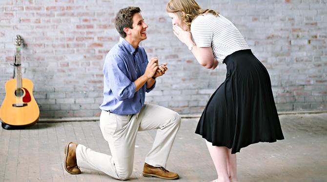 Downtown Loft Proposal - Wedding Blog