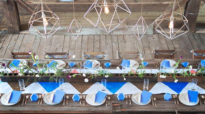 Geometric Barn Wedding Inspiration - Lifestyle Blog