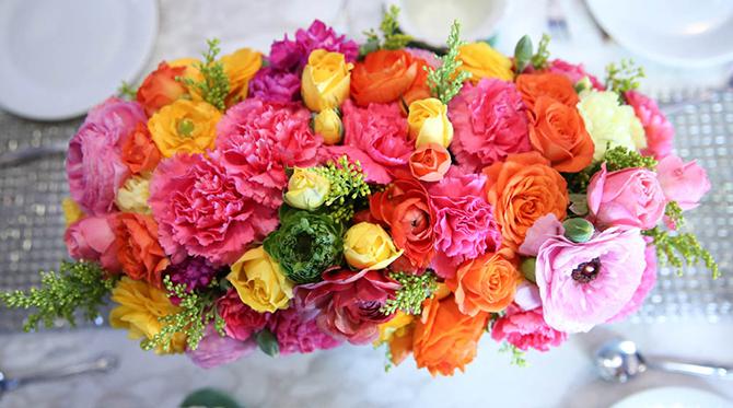 Colorful Floral Bridal Shower - Wedding Blog