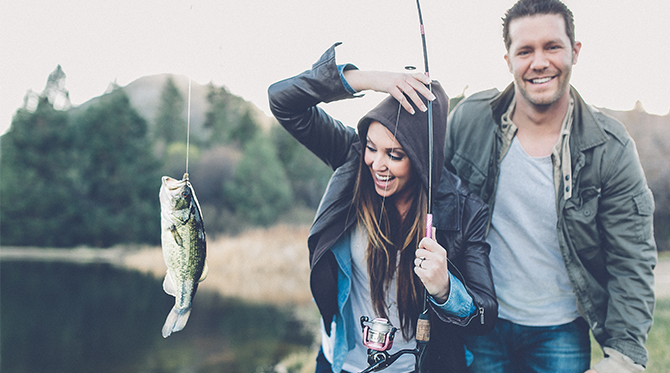 Gone Fishing Engagement Photos - Wedding Blog