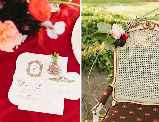 Red and Burgundy Glam Wedding Inspiration - Wedding Blog