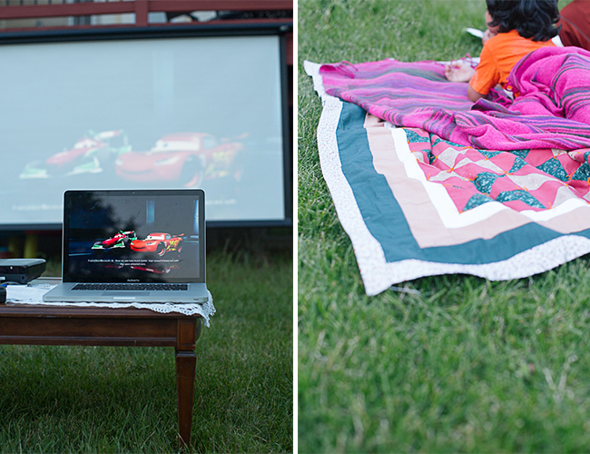 Backyard Movie Night Birthday Party - Baby Blog