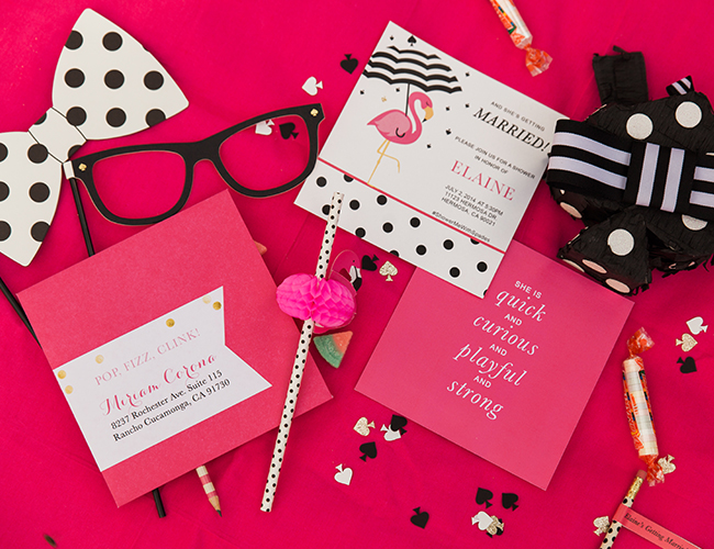 This Kate Spade Bridal Shower on the Inspired by This wedding blog today is full of hot pink