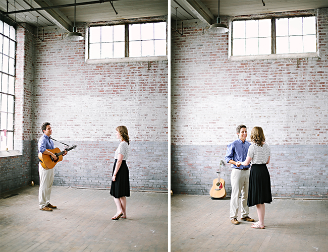 Downtown Loft Proposal - Wedding Blog