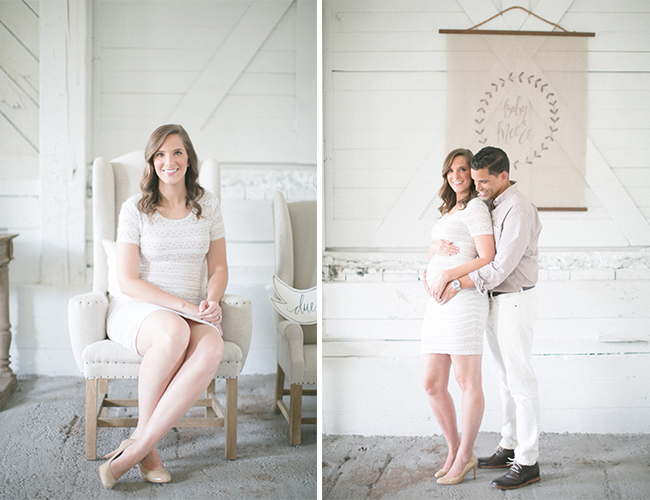 Rustic White Pregnancy Announcement - Baby Blog