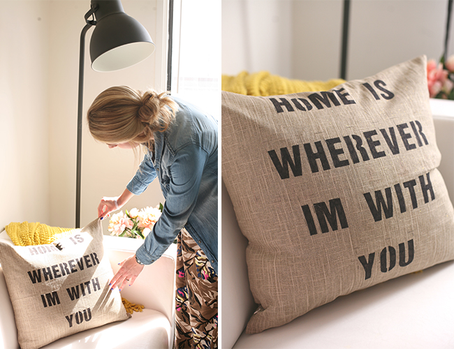 DIY Quote Pillow - Lifestyle Blog