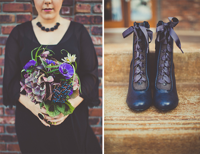 Dark and Moody Fall Wedding Inspiration - Wedding Blog