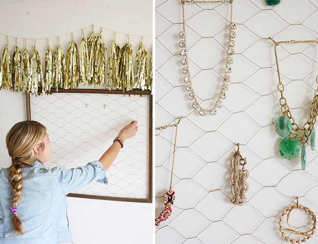 DIY Jewelry Organizer - Style Blog