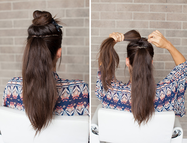 Awe Inspiring Hair Diy Double Ponytail Inspired By This Style Blog Short Hairstyles Gunalazisus