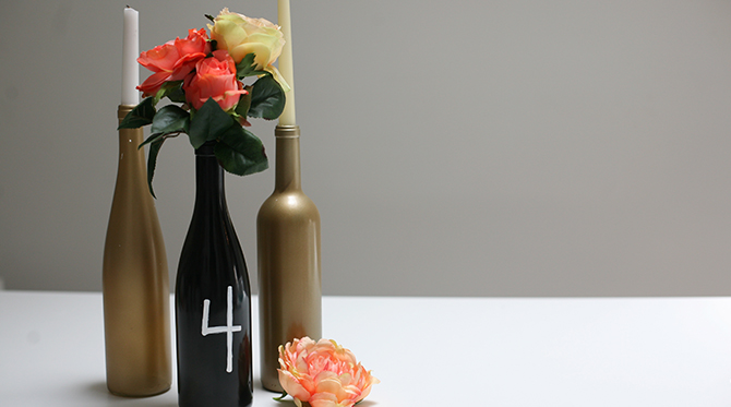 DIY Wine Bottle Centerpieces - Lifestyle Blog