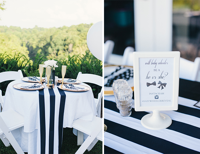 Navy and Gold Polka Dot Gender Reveal Party - Baby Blog