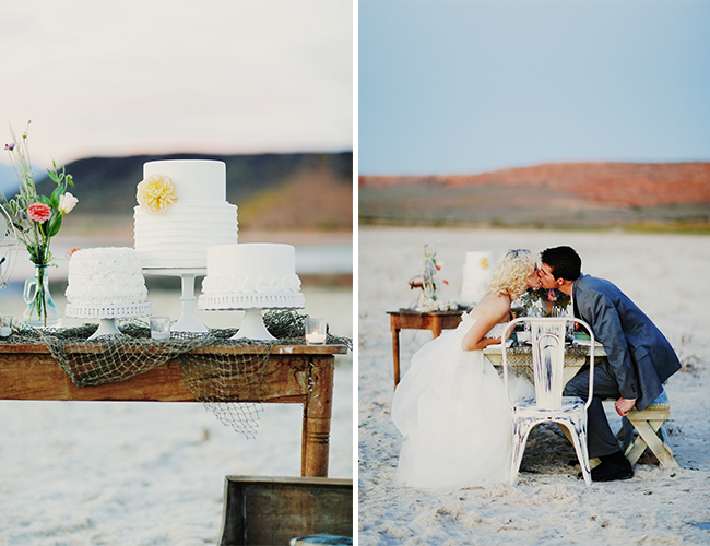 Vintage Beach Wedding Inspiration - Wedding Blog