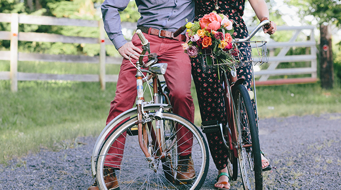 Colorful and Playful Portland Engagement - Wedding Blog